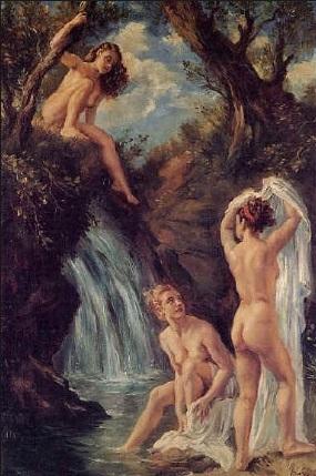 GEORGE OWEN WYNNE APPERLEY El baño de las ninfas