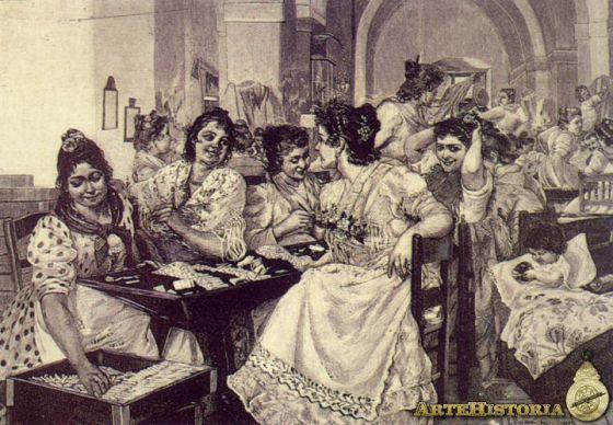 Cigarreras sevillanas a finales del siglo XIX, de Enrique Paternina